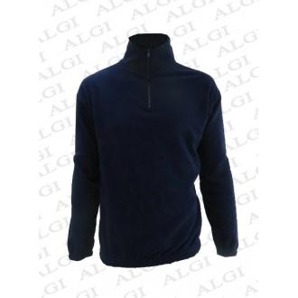 Maglia in pile mezza zip blu navy